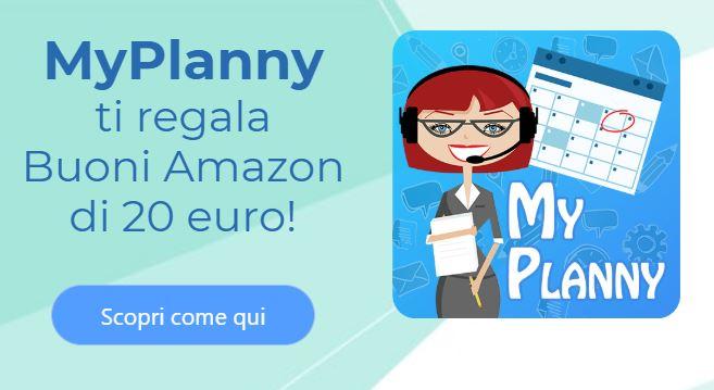 myplanny ti regala un buono amazon da 20 euro: scopri come